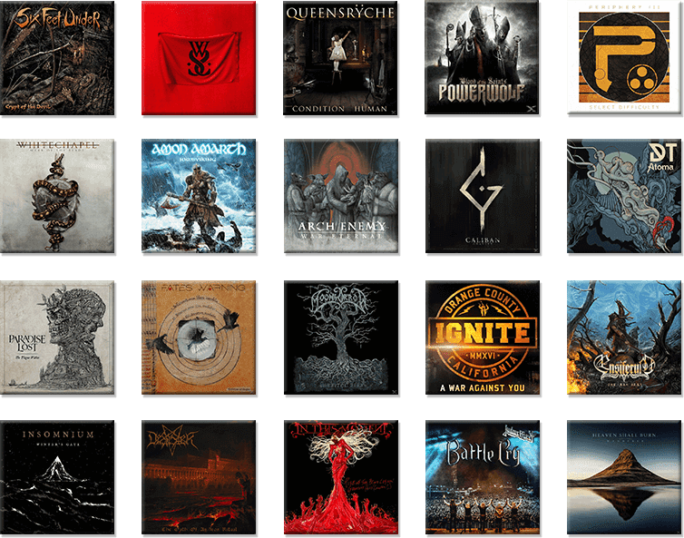 metal album grid