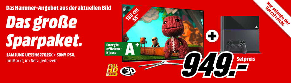 Mediamarktde Samsung 55 Zoll Tv Ps4 Im Bundle Für 949 Inkl Vsk