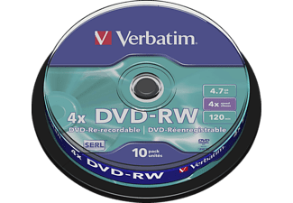 VERBATIM 43552 DVD-RW  10 Pack Jewel Spindel