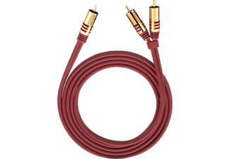 OEHLBACH 20565 NF Y-Adapter Set Cinch 5m, Cinchkabel, 5000 mm, Rot