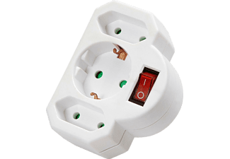 VIVANCO Schuko/Eurosplitter med switch