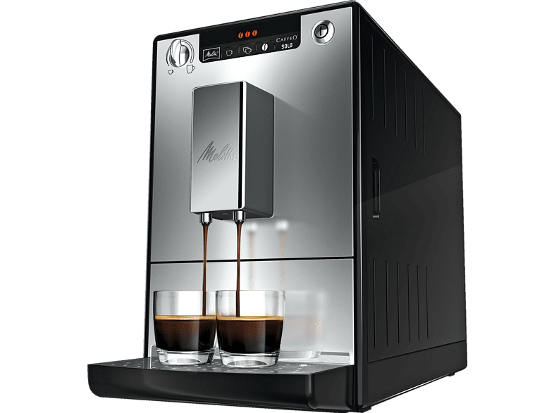melitta caffeo solo e 950 103 kaffeevollautomat mit vorbr hfunktion schwarz silber. Black Bedroom Furniture Sets. Home Design Ideas
