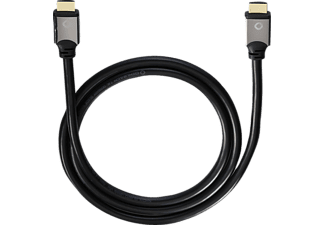 OEHLBACH 92451 Black Magic HDMI 1.2 m Ethernet, High-Speed-HDMI-Kabel, 1200 mm, Schwarz