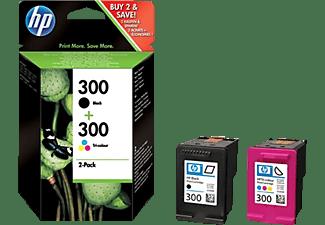300 Zwart/3-kleuren Combopack (HP83898)