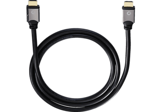OEHLBACH 92449 Black Magic HDMI 0.4 m Ethernet, HDMI-Kabel, 400 mm, Schwarz