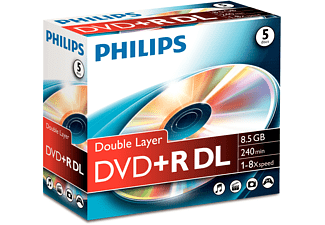 PHILIPS DR8S8J05C DVD+R DL 5 st.