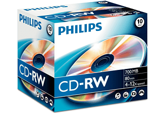 PHILIPS CD-RW 700MB jewelcase 10 st.