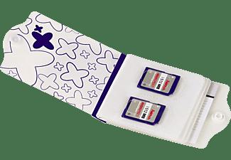Hama Memory Card Case Blauw-wit Sd (8x) Hama