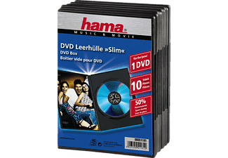 HAMA 51181 Slim DVD Jewel Case, pack of 10, Black