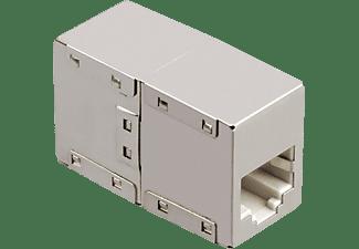 Adapter Hama CAT5e 2x RJ45 socket metalen behuizing