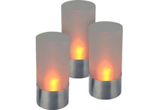 OLYMPIA 98694 39 3-tlg. LED-Teelichtset Orange