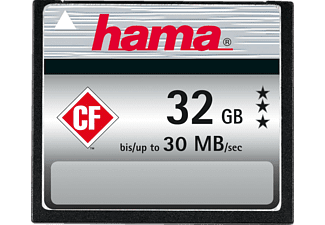HAMA 090974 Compact Flash Speicherkarte, 32 GB, 30 MB/s