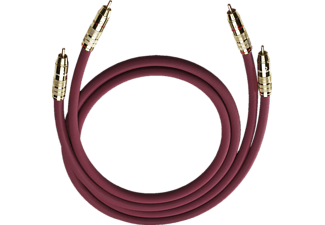 OEHLBACH 2043 NF 214 Set 2x 0,50 m Cinchkabel Bordeaux