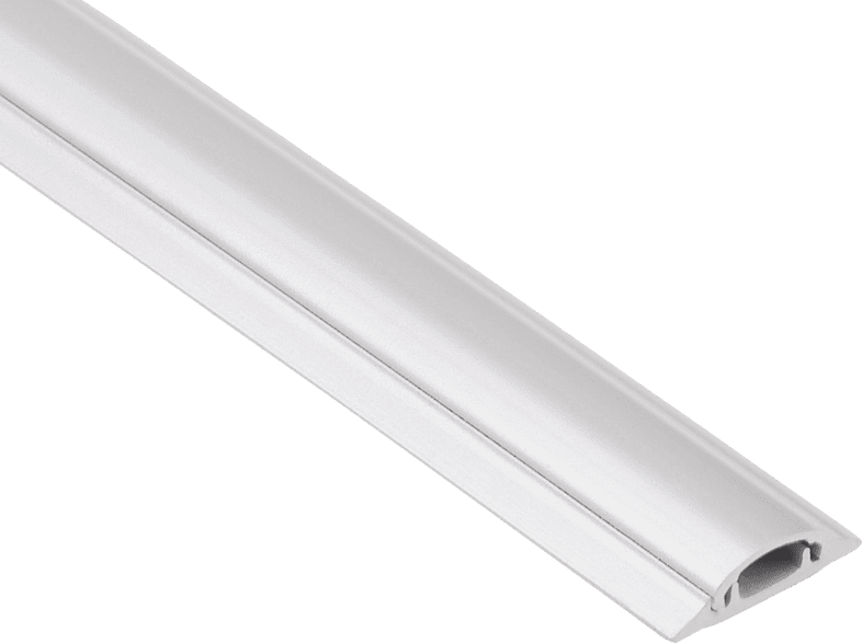 HAMA 20617 PVC Cable Duct, semicircular, 100/3.5/0.9 cm, White τηλεόραση   ψυχαγωγία μην ξεχάσεις τακτοποίηση καλωδίων εικόνα   ήχος   offline