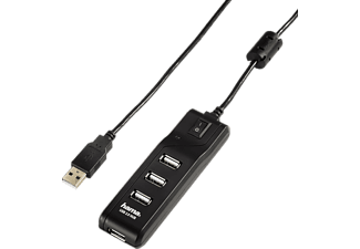 "HAMA ""On/Off Switch"" USB 2.0 Hub 1:4, bus-powered, black - (54590)"
