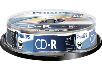 PHILIPS CD-R 80 52x spindel 10 st.