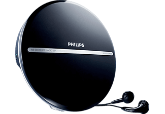 PHILIPS EXP2546 Tragbarer CD Player Schwarz/Silber