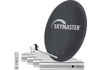 sm skymaster quad sd sat anlage 80cm quad lnb 4x receiver dx7 satellitenanlage komplett kaufen. Black Bedroom Furniture Sets. Home Design Ideas