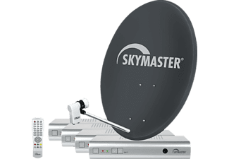 sm satellitenanlage komplett skymaster quad sd sat anlage 80cm quad lnb 4x receiver dx7 80 cm. Black Bedroom Furniture Sets. Home Design Ideas
