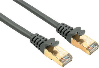 HAMA CAT 5e Network Cable STP, gold-plated, shielded Grey 0.5 m - (00041899)