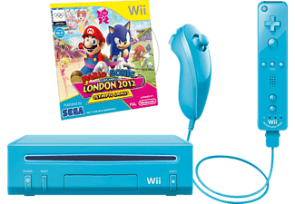 Wii Mario + Sonic Pack Blau - Limited Edition