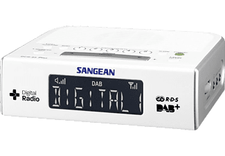 SANGEAN DCR-89 Digital Uhrenradio (Digital Radio, UKW, MW, Weiß)