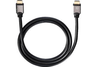 OEHLBACH Black Magic 170 High-Speed-HDMI® Kabel mit Ethernet, HDMI Kabel, 1700 mm, Schwarz