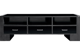 wissmann sideboard art122 schwarz edelstahl multimedia. Black Bedroom Furniture Sets. Home Design Ideas