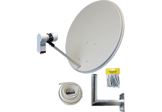 ALLVISION SAH-S 160 Twin Set Satellitenschüssel (60 cm, Digitales Twin-LNB)