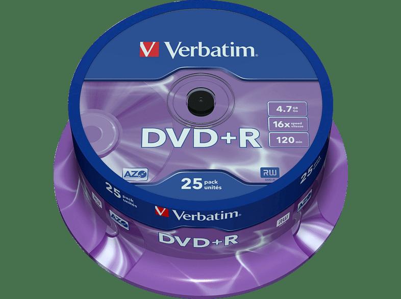 VERBATIM DVD+R Matt Silver 25τεμ. - (43500) αξεσουάρ αποθήκευση δεδομένων cd   dvd   blu ray laptop  tablet  computing  αποθ
