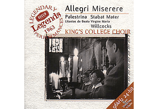 King's College Choir, KING'S COLLEGE CHOIR/WILLCOCKS - Miserere/Stabat Mater [CD]