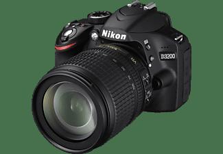 NIKON D3200 Spiegelreflexkamera, 24.2 Megapixel, CMOS Sensor, 18-105 mm Objektiv, Autofokus, Schwarz