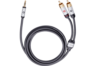 OEHLBACH 60006 I-Connect, Cinch-Klinke-Kabel, 5 m Kabellänge