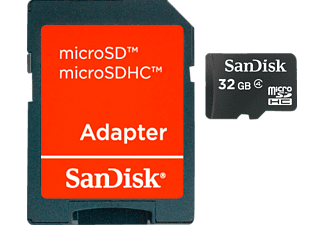 sandisk microsdhc 32 gb speicherkarte mit adapter. Black Bedroom Furniture Sets. Home Design Ideas