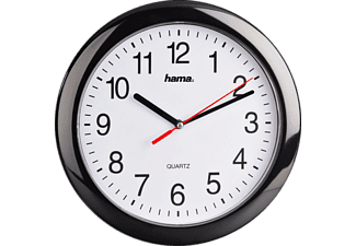 "HAMA 113920 ""PP-250"" Quartz Wall Clock, Black"