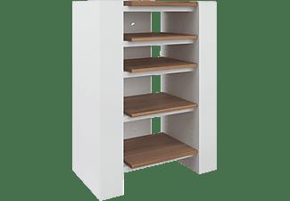 schnepel x line 750 hifi rack hochglanz wei walnuss multimedia m bel mediamarkt. Black Bedroom Furniture Sets. Home Design Ideas