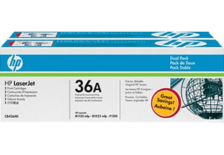HP 36A 2er-Pack Black CB436AD