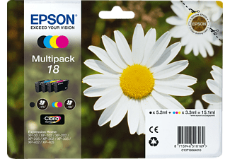 EPSON Claria Home Ink Multipack 4 Farben 18 C13T18064010
