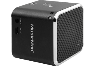 TECHNAXX MusicMan Mini BT-X2, Dockingstation, Schwarz
