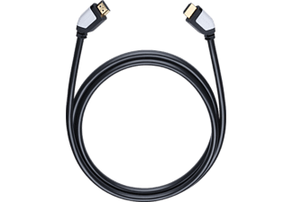 OEHLBACH 42462 Shape Magic-HS HDMI Kabel 2,2 m, HDMI Kabel, 2200 mm, Schwarz