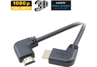 VIVANCO HDMI High Speed Ethernet kabel 2x90° 3m