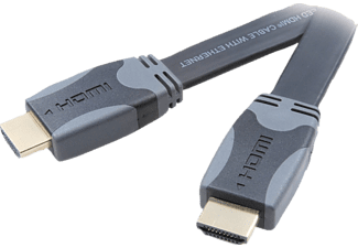 VIVANCO HDMI High Speed Ethernet kabel, flat/guld, 5m