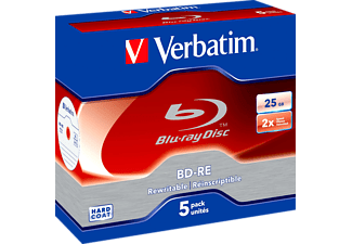 VERBATIM 43615 BD-RE 25GB, Rohlinge, 5er Jewelcase