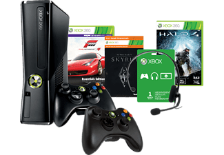Xbox 360 250 GB + Halo 4 + Forza Motorsport 4 Essentials Edition + Sky
