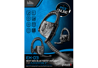 GIOTECK EX-03 Bluetooth Headset PS3 / PC / Mobil-Phone, Headset, Schwarz