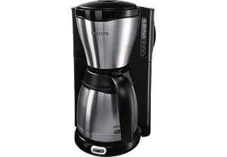 PHILIPS Gaia Filter-Kaffeemaschine HD7546/20 mit Thermo-Kanne, schwarz/metall