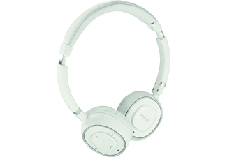 PEAQ PHP350, On-ear Headset, Headsetfunktion, Bluetooth, Weiß