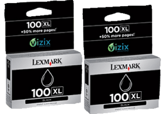 LEXMARK 100XL 2er-Pack Black 14N0848