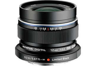 OLYMPUS M.ZUIKO 12 mm f/2,0 Ltd ed. - Svart