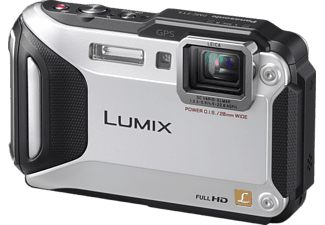 PANASONIC Lumix DMC-FT5 Kompaktkamera, 16.1 Megapixel, 4.6x opt. Zoom, Live-MOS Sensor, Near Field Communication, WLAN, 28-128 mm Brennweite, Autofokus, Silber